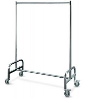 Obešalnik za garderobo inox 120x53cm viš.170cm