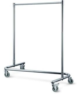 Obešalnik za garderobo inox 125x55cm viš.170cm