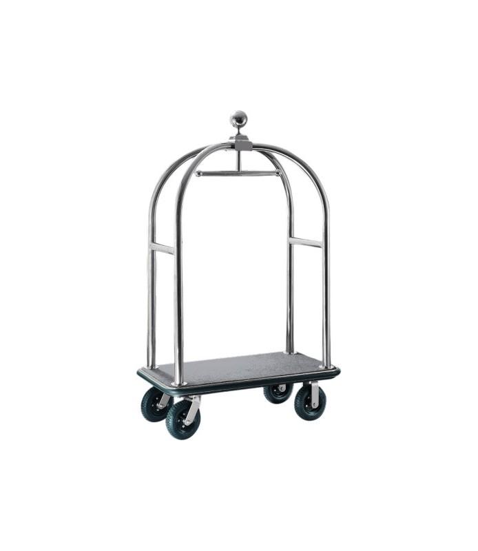 Voziček za prtljago, 110 x 62 x 190 cm, srebrne barve,
