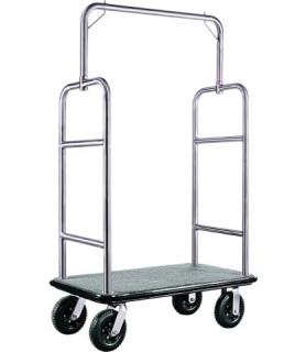 Voziček za prtljago, 110 x 62 x 175 cm, srebrne barve