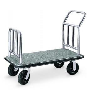 Voziček za prtljago, 110 x 62 x 94 cm, srebrne barve