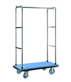 Voziček za prtljago, 90 x 60 x 177 cm, srebrne barve