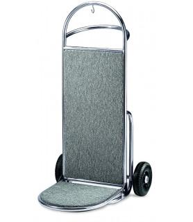 Voziček za prtljago, 45 x 74 x 122 cm, srebrne barve
