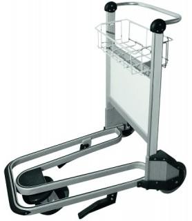 Voziček za prtljago, 93 x 67 x 104 cm,srebrne barve