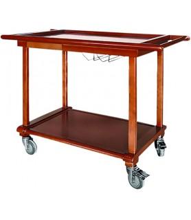 Servirni voziček lesen z 2 polici