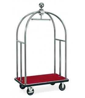 Voziček za prtljago, 106 x 63 x 185 cm, srebrne barve