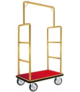 Voziček za prtljago, 105 x 62 x 180 cm, srebrne barve