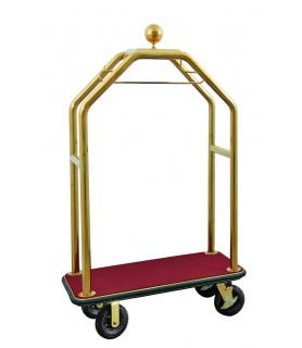 Voziček za prtljago, 110 x 62 x 190 cm, srebrne barve