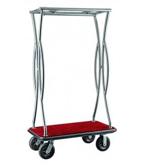 Voziček za prtljago, 110 x 62 x 180 cm, srebrne barve