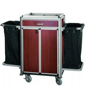 Voziček za sobarice, 2 vreči za perilo, 150 x 53 x 116 cm