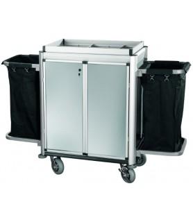 Voziček za sobarice, 2 vrečki za perilo, 150 x 53 x 116 cm