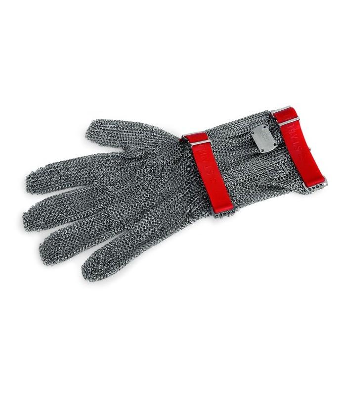 Zaščitna rokavica z manšeto, velikost M, rdeča,