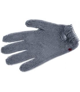 Zaščitna rokavica iz verižice, velikost M, rdeča, nerjaveče jeklo