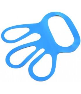 Zateznik za rokavice, modre, poliuretanske