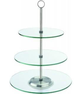 Steklo etažer 3-delni 30/25/21x40 cm