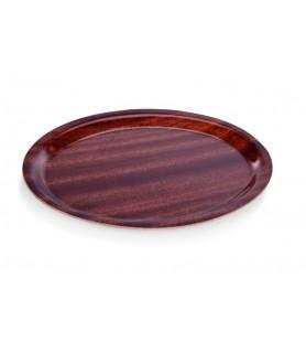 Pladenj oval, 26x20 cm rjav