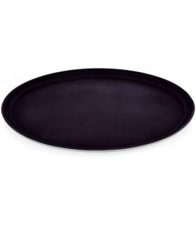 Pp - pladenj oval, rjav 59x49 cm