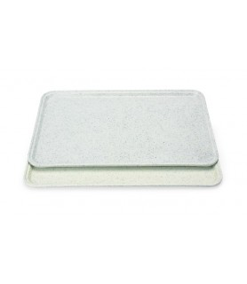 Polyester-pladenj 455x355mm, siv