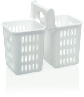 Košara za pranje pribora 20x10,5x16,5  bela