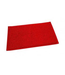 Pvc predpražnik, rdeč - 80 x 120 cm