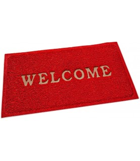 "Pvc predpražnik, rdeč 60 x 40 cm ""welcome"""