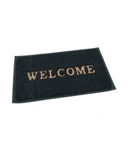 """Pvc predpražnik, siv 80 x 60 cm """"welcome"""""""
